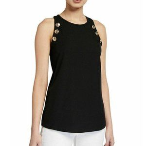 Calvin Klein S Black Front Lined Tank Top NWT V63